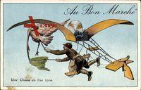 Zukunft Au Bon Marché, Un Chasse en l'an 2000, Storch, Flugzeug