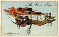 Zukunft Au Bon Marché, Tourisme en l'an 2000, Flugzeug