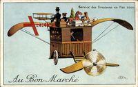 Zukunft Service des Livraisons en l'an 2000, Au Bon Marché, Flugzeug