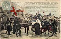 Soeur Saint'henri a Janville 1870, Verletztenkonvoi, Nonne