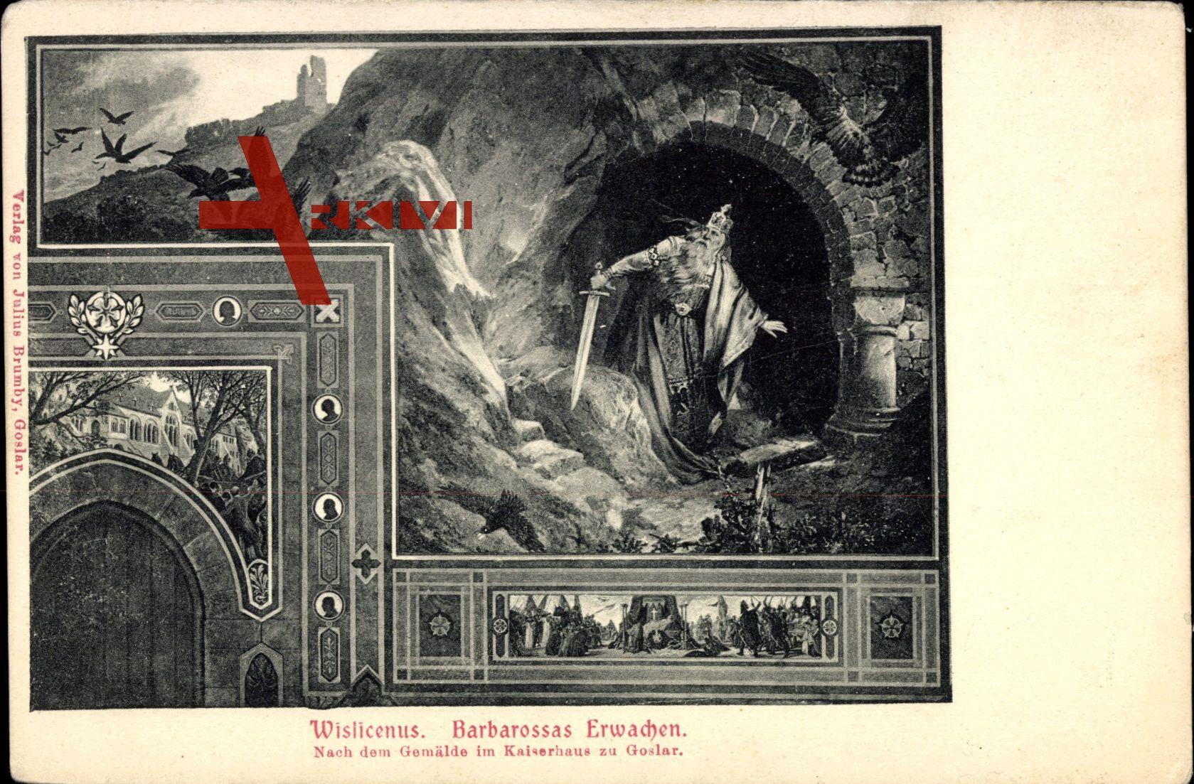 Goslar am Harz, Wislicenus, Barbarossas Erwachen, Gemälde im Kaiserhaus