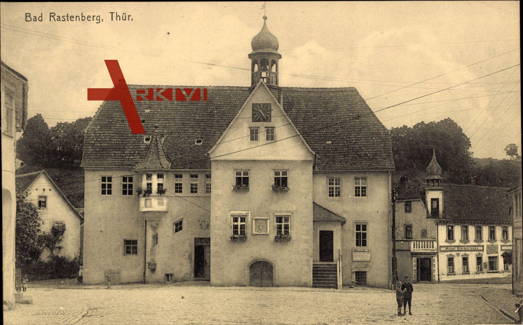 Rastenberg Thüringen, Blick auf ein Gebäude, Hotel Barbarossa
