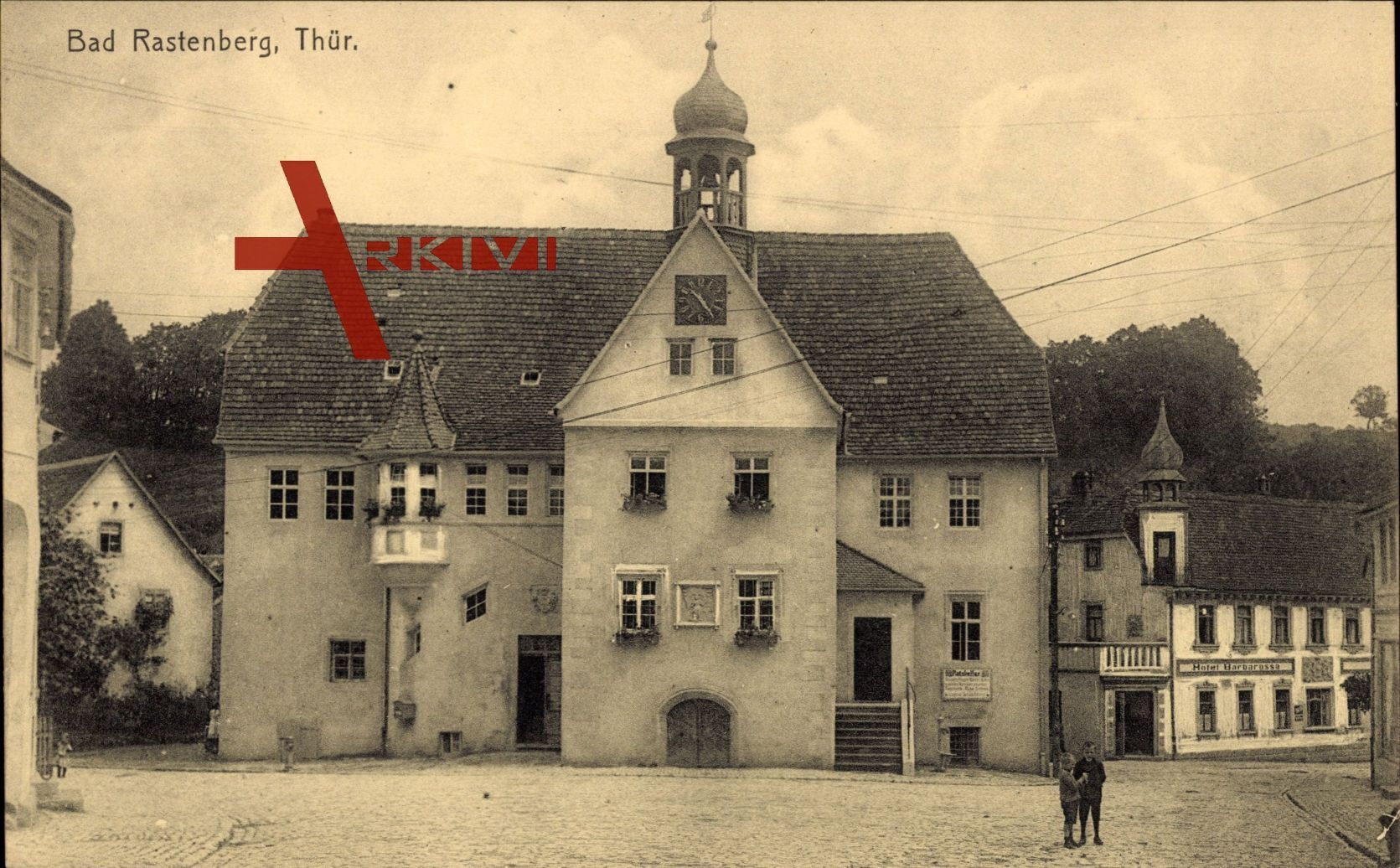Rastenberg Thüringen, Partie am Markt, Hotel Barbarossa