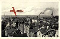 Itzehoe im Kreis Steinburg, Blick über die Dächer der Stadt, Fabriken