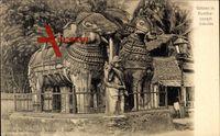 Kumbaconam Indien, Ansicht der Götzen, Elefant