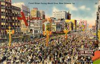 New Orleans Louisiana USA, Canal Street During Mardi Gras