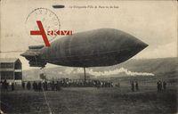 Le Dirigéable Ville de Paris vu de face, Französischer Zeppelin