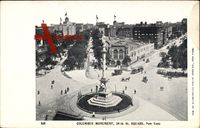 New York City USA, Columbus Monument, 59th Street, Square