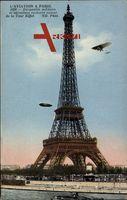Paris, L'Aviation, Dirigeable militaire et aéroplane évouluant, Zeppelin