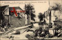 Châteaudun, Barricade tournée, Défense, 18 Octobre 1870