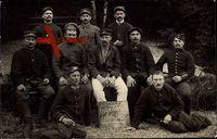 Französische Kriegsgefangene, Erster Weltkrieg Krieg 1914. Reg 194