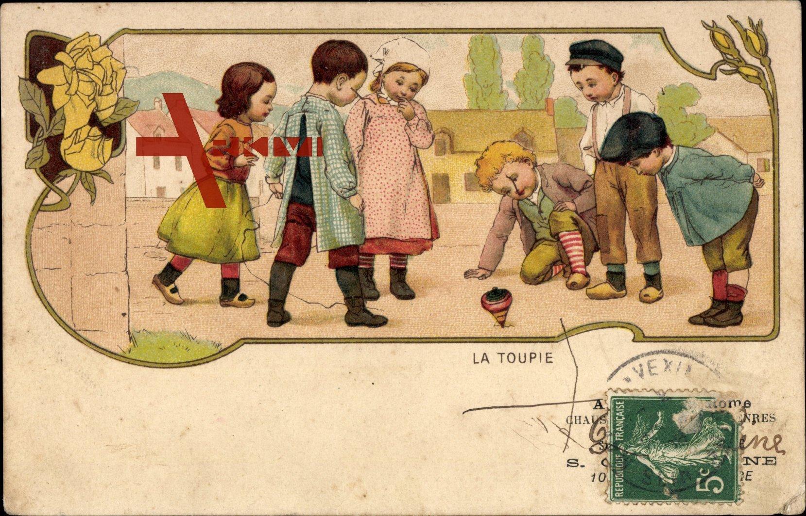 Kinder spielen mit einem Diabolo, Spielzeug