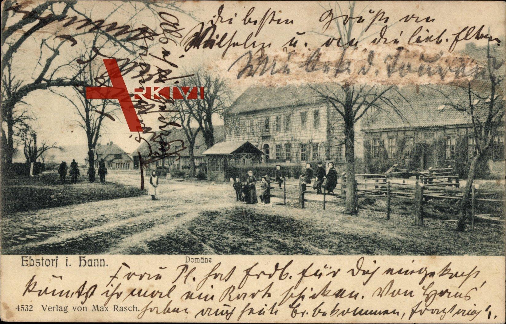 Ebstorf in der Lüneburger Heide, Domäne, Gutshof, Kinder auf dem Zaun