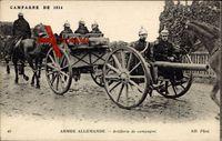 Armée allemande, Artillerie de campagne, Deutsches Geschütz, Krieg 1914