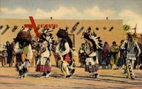 The buffalo dance of the Pueblo Indians, tribes, Hopi, San Juan, Santa Clara