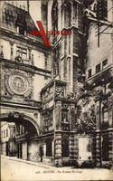 Rouen Seine Maritime, La Grosse Horloge, Tor mit der großen Uhr