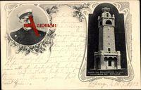 Eschwege, Portrait von Bismarck und Modell zum Bismarckturm auf dem Leutberg