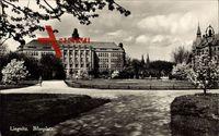 Legnica Liegnitz Schlesien, Partie am Bilseplatz, Gartenanlagen, Frühling