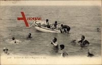 Le Canot des Bains et Baigneurs, Ruderboot, Badende im Wasser