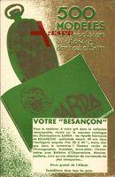 Reklame, Sarda Besancon, 500 Modèles, Taschenuhr