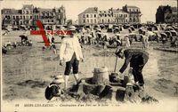Mers les Bains Somme, Construction d'un Fort sur le Sable