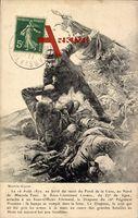 Le 16 Août 1870, au bord du ravon du fond de la Cuve au Nord de Mars la Tour