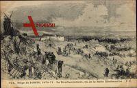 Siége de Paris, 1870 - 71, Bombardement, vue de la Butte Montmartre