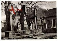 Xanten am Niederrhein, Der St. Viktorsdom, Kreuzigungsgruppe an der Südseite
