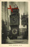 Gdańsk Danzig, Marienkirche von innen, Ansicht der Uhr