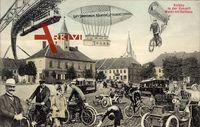 Zukunft Działdowo Soldau Ostpreußen, Markt, Rathaus, Zeppelin, Schwebebahn