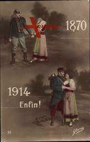 1870, 1914, Elsaß Lothringen, Deutschland, Frankreich