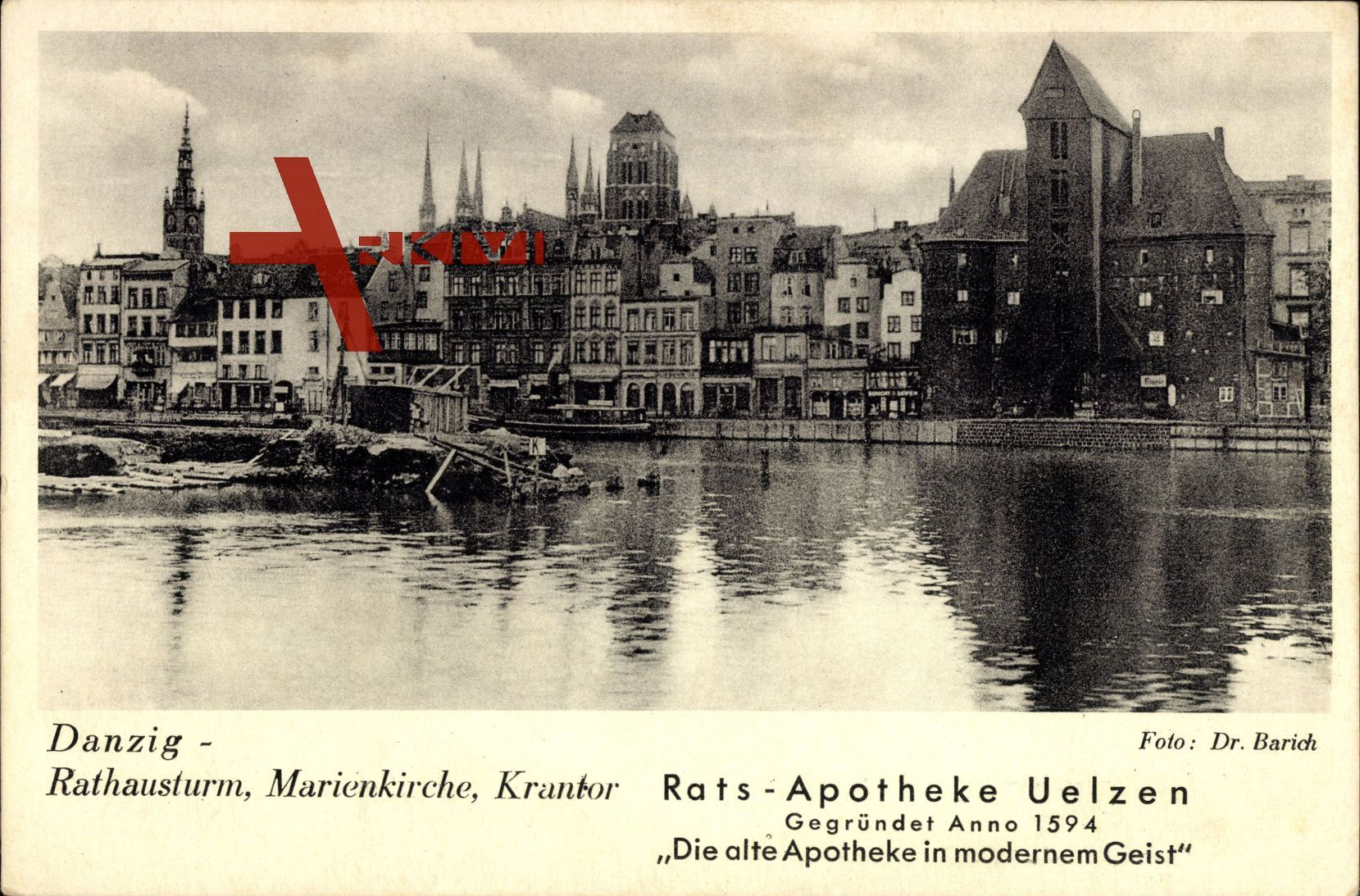 Gdańsk Danzig, Rathausturm, Marienkirche, Krantor, Rats Apotheke Uelzen