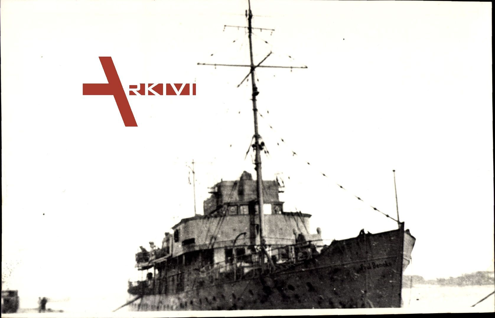 Deutsches Kriegsschiff Paul Beneke, Mast, Hafennähe