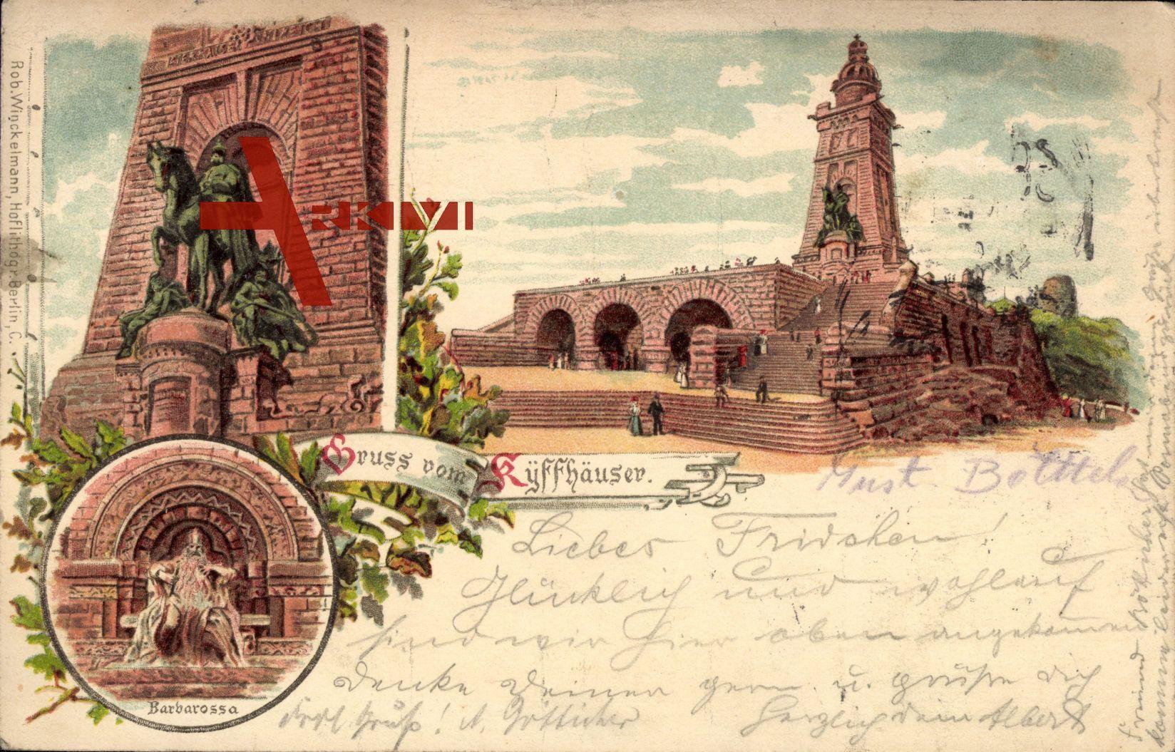 Kyffhäuser Bad Frankenhausen, Barbarossa und Kaiser Wilhelm Denkmal