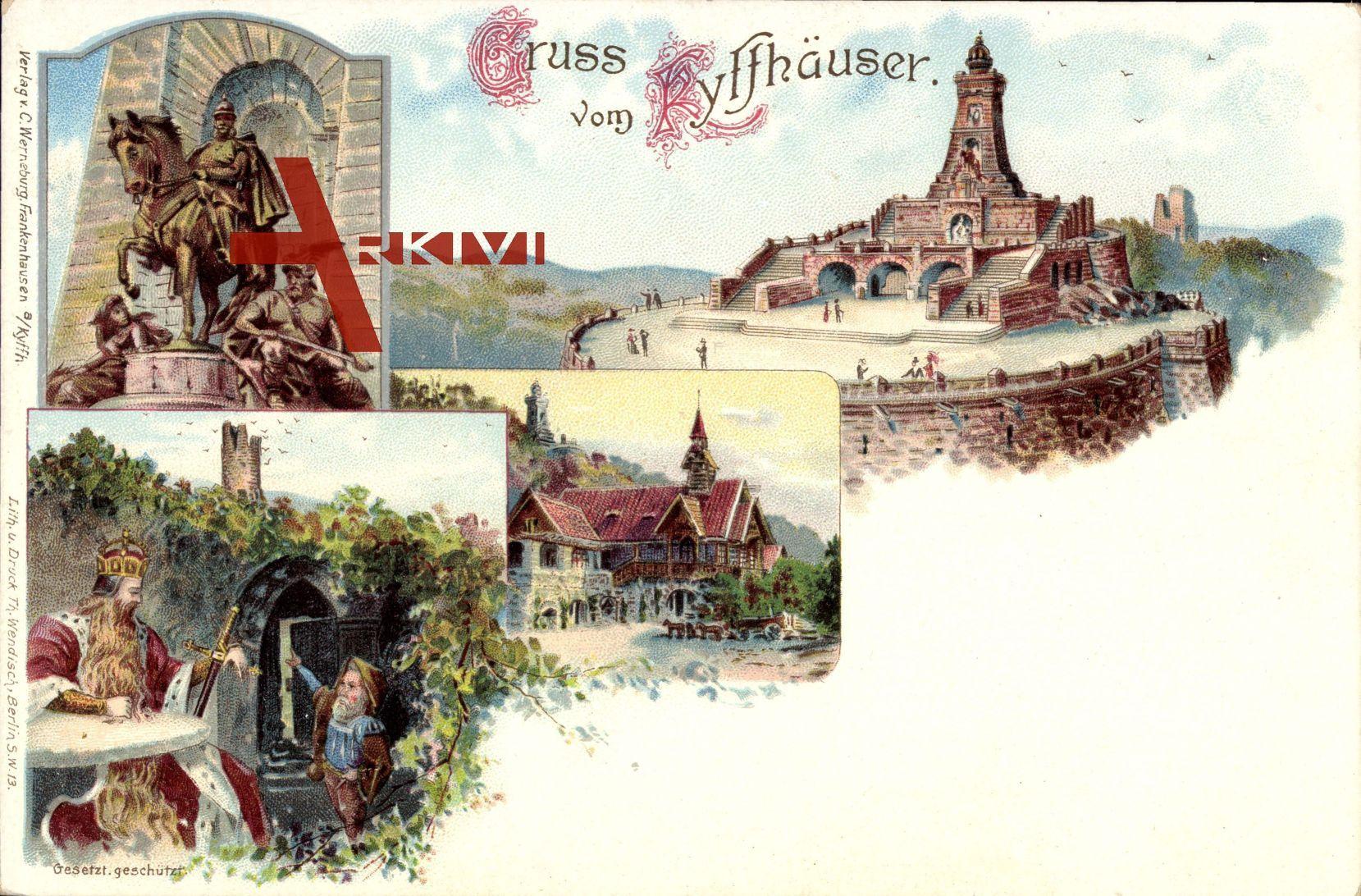 Kyffhäuser Bad Frankenhausen, Barbarossa, Kaiser Wilhelm Denkmal