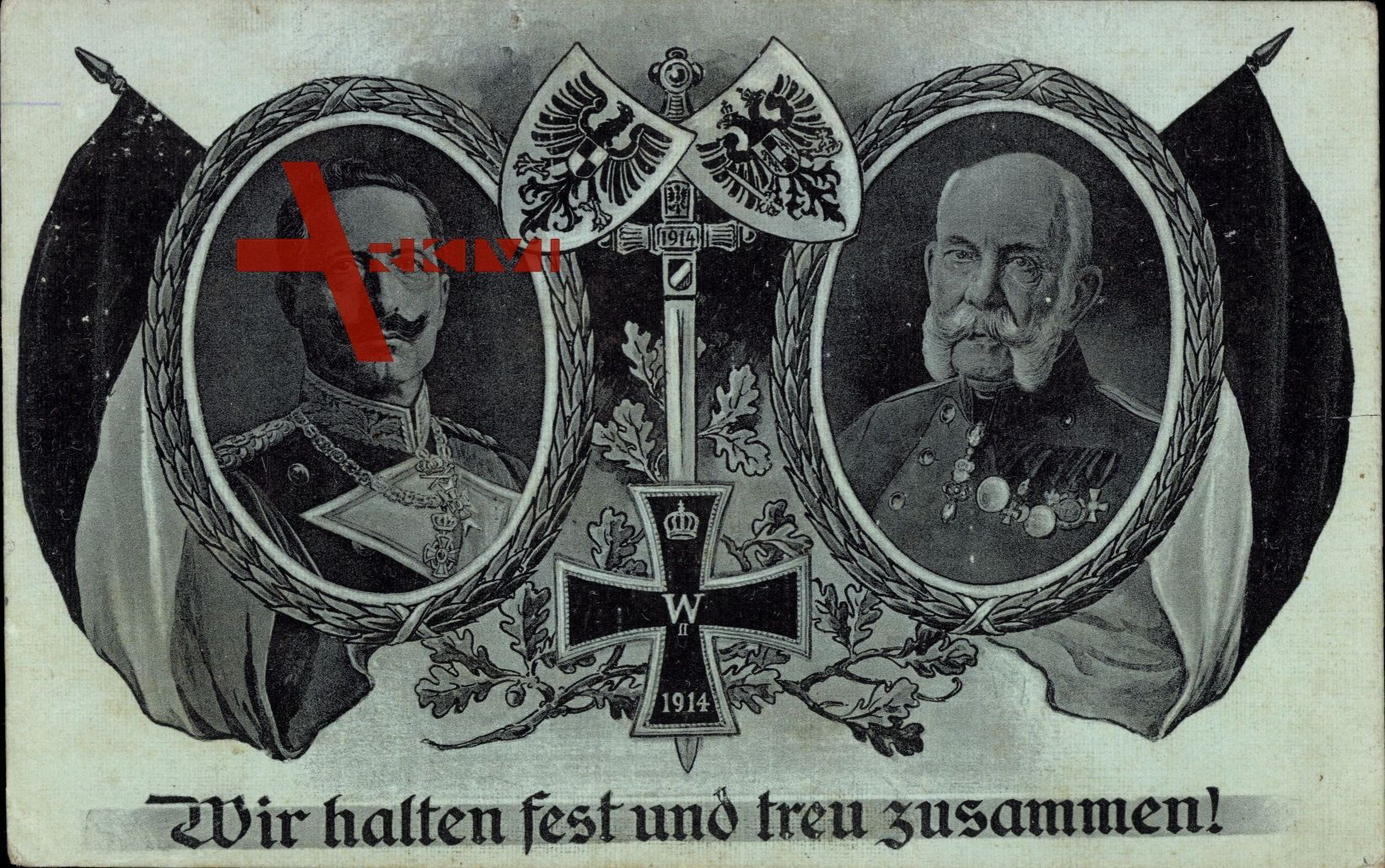 Wir halten fest und treu zusammen, Kaiser Wilhelm II., Franz Josef