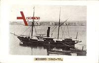 Italienisches Kriegsschiff, Miseno, 1843 bis 1870