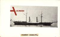 Italienisches Kriegsschiff, Tuköry, 1848 bis 1870