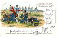 Regiment Jäger Bat. 1-10 seit 1869, Feldzug 1870, Inf. Regt. II III 19 Reg