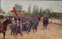 Abtransport französischer Gefangener, Krieg 1914