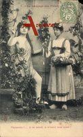 Le Langage des Fleurs, Blumensprache, Paquerette, Frauen