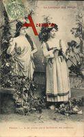 Le Langage des Fleurs, Blumensprache, Pivoine, Frauen
