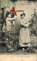 Le Langage des Fleurs, Blumensprache, Feuille de Laurier, Frauen