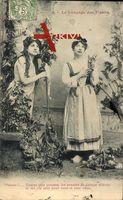 Le Langage des Fleurs, Blumensprache, Pensée, Frauen