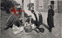 A la Caserne, Une bonne partie, Franz. Soldaten, Trommel, Kartenspiel