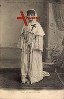 Chanoinesse, Stiftsdame, Frau in Mönchsgewand, Kreuz, Karnevalskostüm