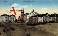 Jihlava Iglau Region Hochland, Kaiser Franz Josef Platz, Straßenbahnen