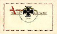 Glückwunsch Neujahr, Eisernes Kreuz, Patriotik, Kaiserreich