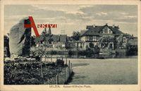 Uelzen Niedersachsen, Gedenkstein am Kaiser Wilhelm Platz, Häuser