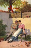 Der Spion, Soldat flirtet mit einer Frau, Karte Nr. 5, Immer Fachmann